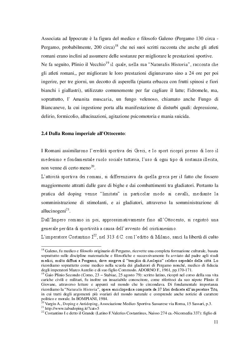 """Estratto dalla tesi: """"La Storia Del Doping"""": origini ed evoluzione del fenomeno"""