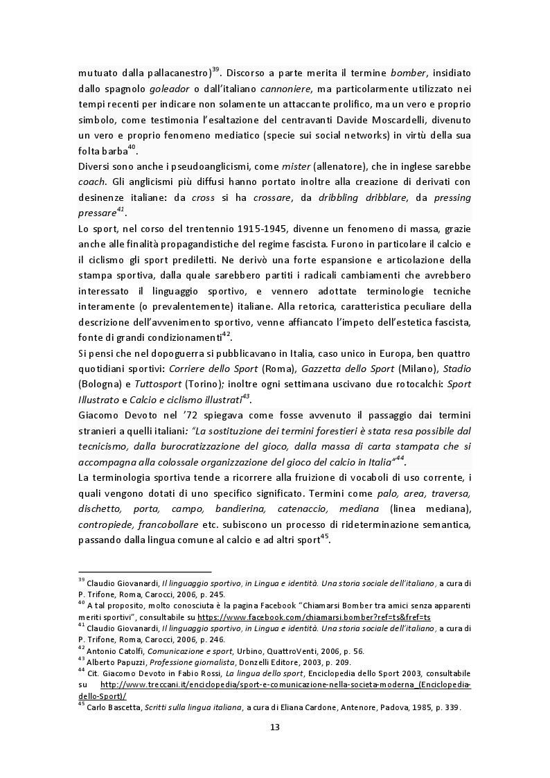 Estratto dalla tesi: La telecronaca calcistica italiana: modelli, caratteristiche e stili tra passato, presente e futuro