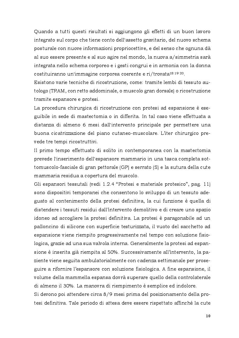 Estratto dalla tesi: Trattamento riabilitativo con Wii Balance Board in pazienti con malattia oncologica dopo impianto di protesi mammaria