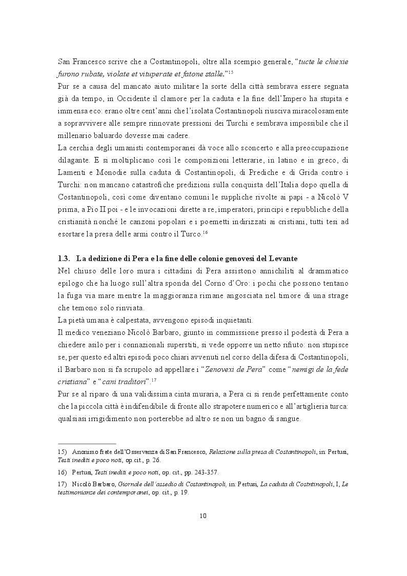 Estratto dalla tesi: Pera nella memoria dei Genovesi: notizie e tradizioni (gli oggetti sacri pervenuti dopo la conquista di Costantinopoli)