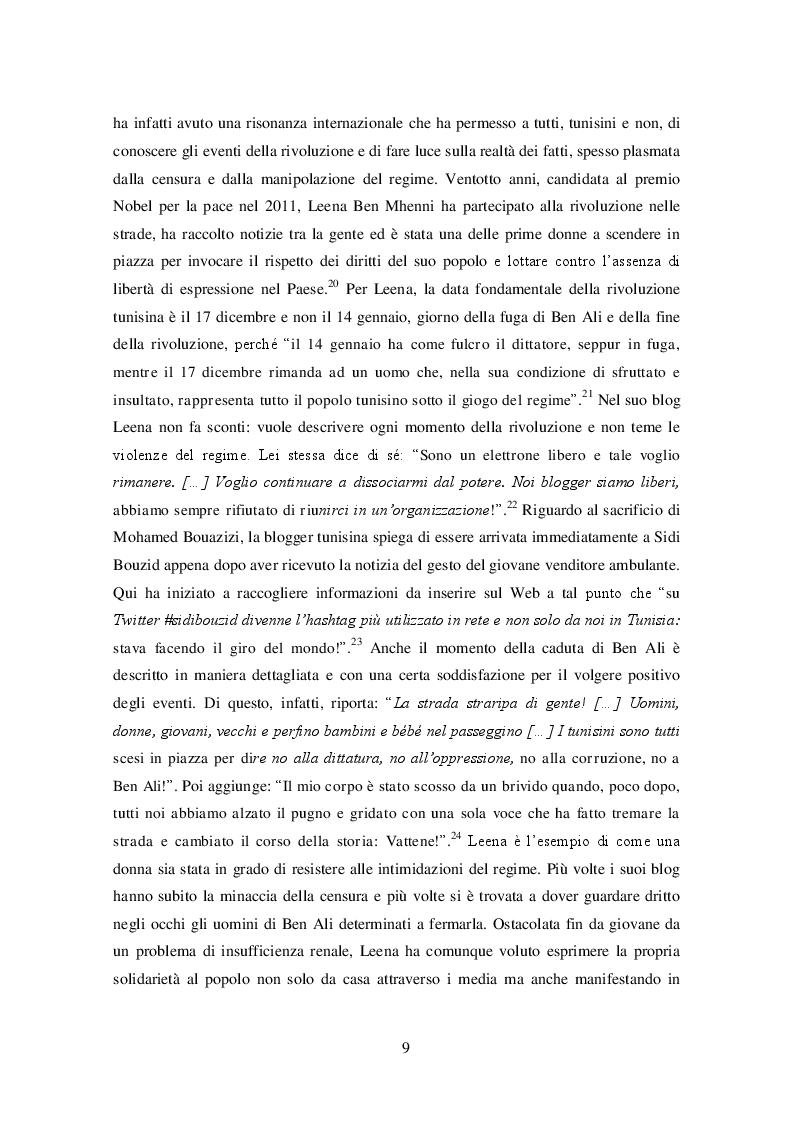 Estratto dalla tesi: Donne e Primavera Araba: la partecipazione femminile alle ondate di rivolta e le dinamiche della post-rivoluzione