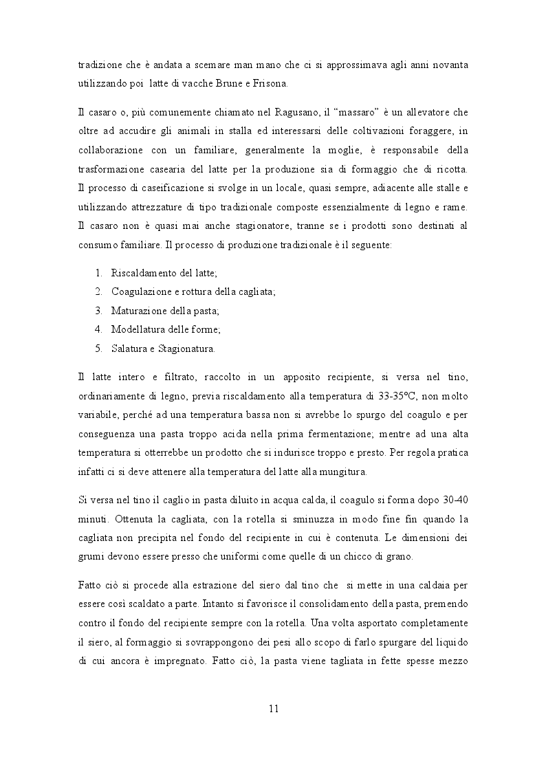 Estratto dalla tesi: Prodotti tipici ed esperienze imprenditoriali nel Ragusano del secondo Novecento