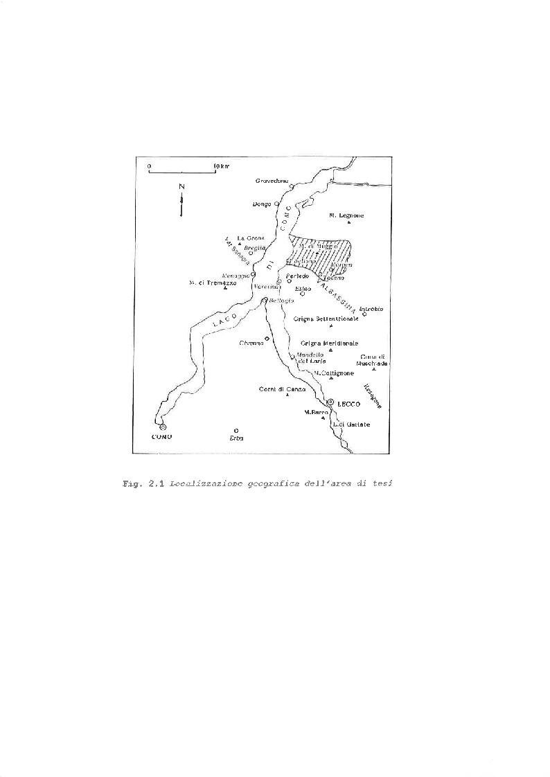 Anteprima della tesi: Studio Geo-giacimentologico delle mineralizzazioni a solfuri dell'area tra Bellano e Dervio e dell'Alta Valsassina, Pagina 4