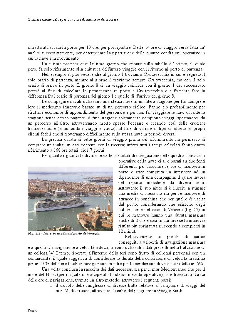 Estratto dalla tesi: Ottimizzazione del reparto motori di una nave da crociera