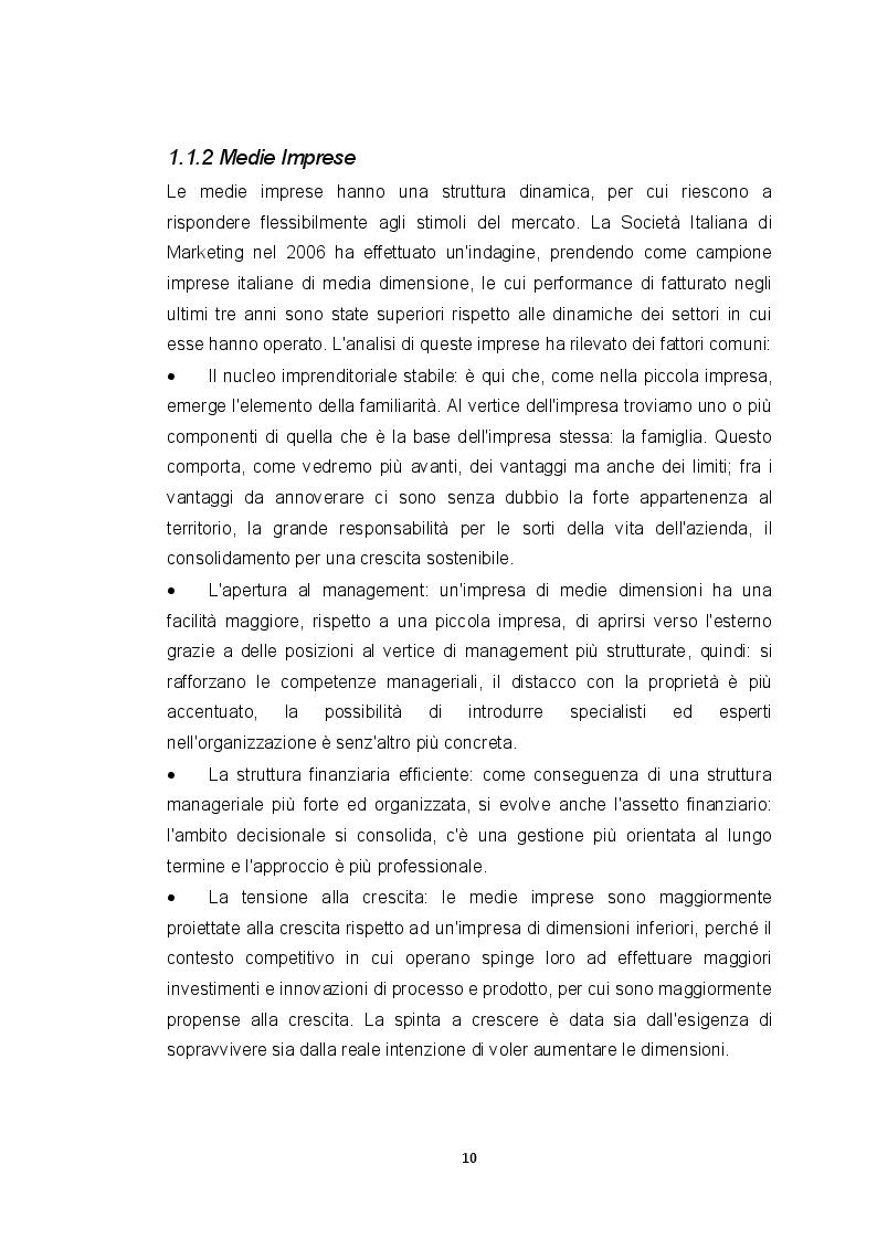Estratto dalla tesi: Piccole e medie imprese italiane: caratteristiche ed opportunità di sviluppo