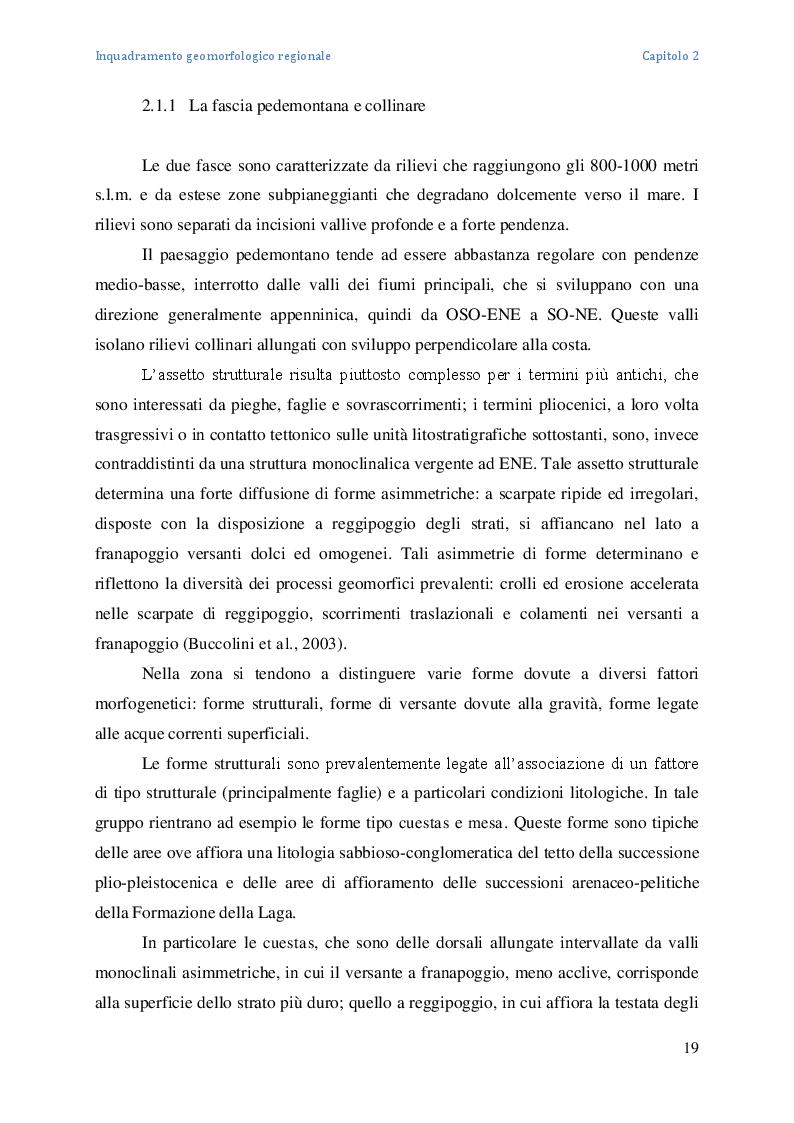 Estratto dalla tesi: Analisi geografico-fisica multitemporale del Torrente Dendalo