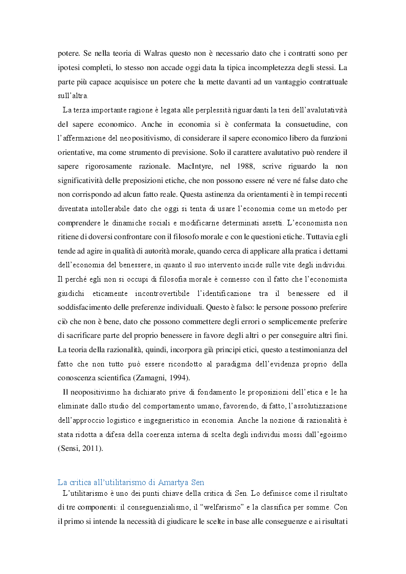Estratto dalla tesi: Amartya Sen: Etica, libertà e democrazia come fini e mezzo dello sviluppo