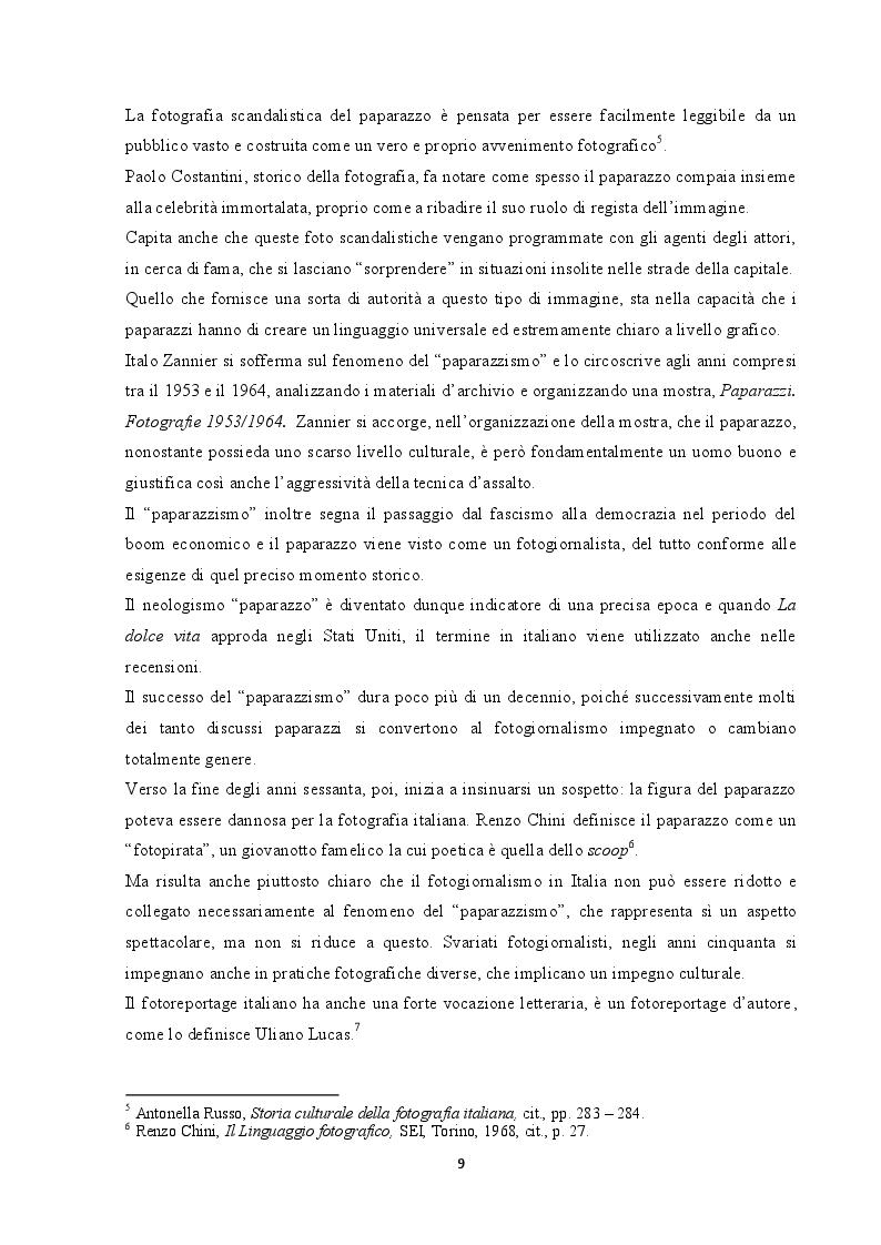 Estratto dalla tesi: Ugo Mulas: l'arte attraverso l'obbiettivo