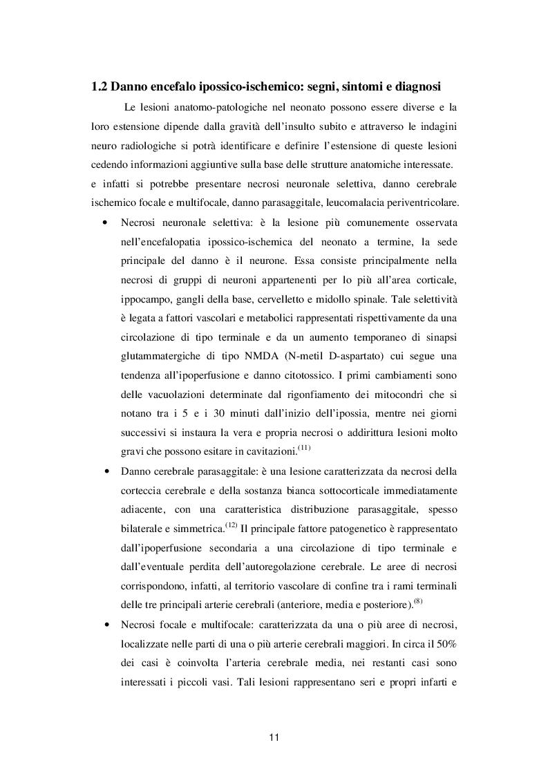 Estratto dalla tesi: Ipotermia terapeutica. Il ruolo dell'Infermiere Pediatrico nel trattamento del neonato con Encefalopatia ipossico-ischemica.
