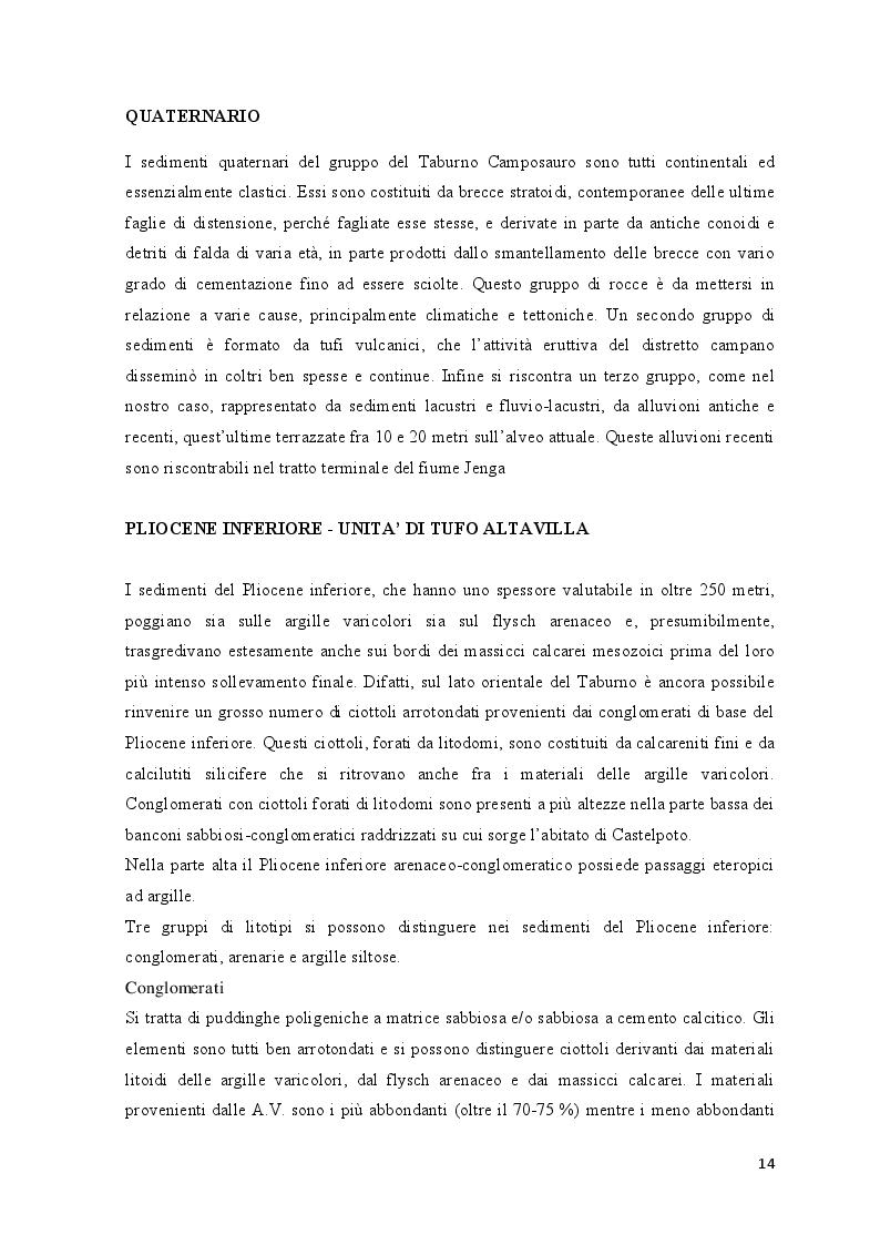 Estratto dalla tesi: Indagine conoscitiva sugli impatti antropici nell'acquifero alluvionale del Fiume Jenga (Valle Vitulanese - Bn)