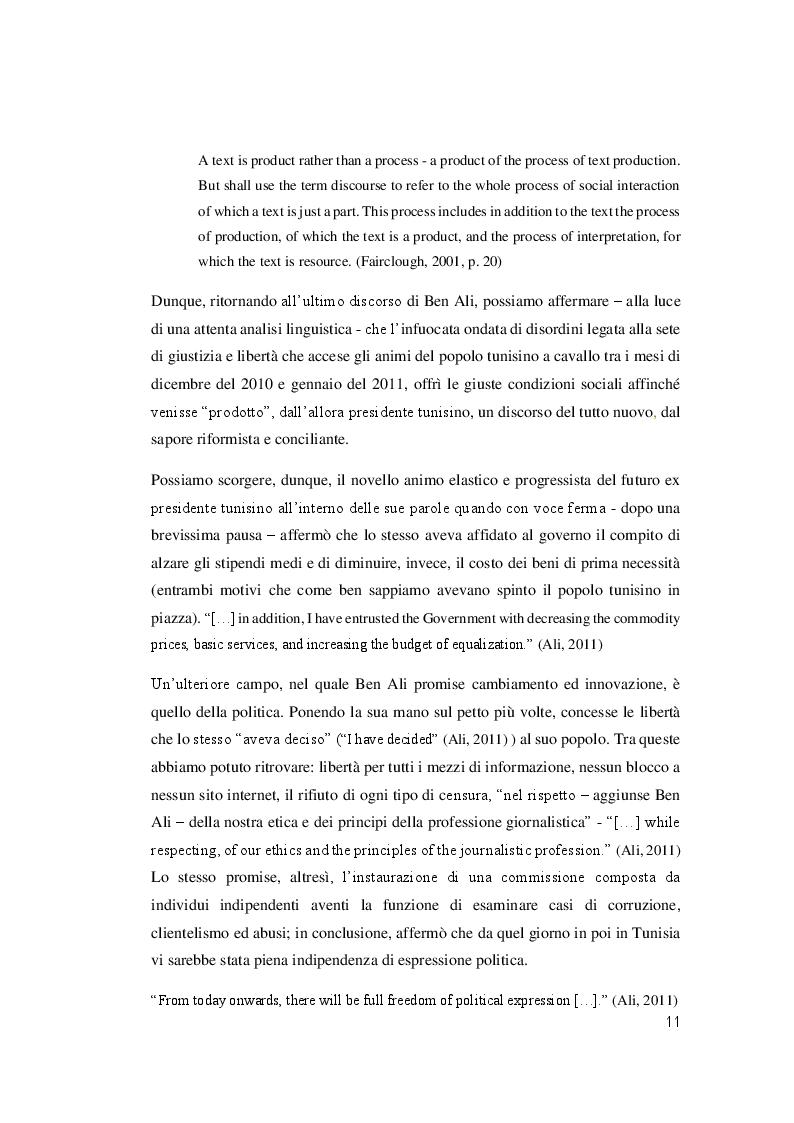 """Estratto dalla tesi: Il linguaggio politico dopo la """"Primavera Araba"""" in Tunisia, Giordania & Siria"""