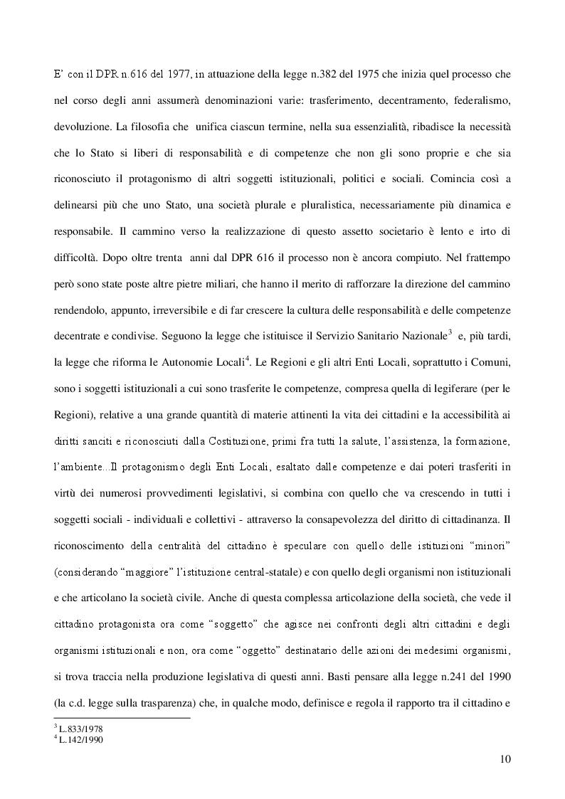 Estratto dalla tesi: Il ''mestiere'' dell'assistente sociale e la funzione dirigenziale