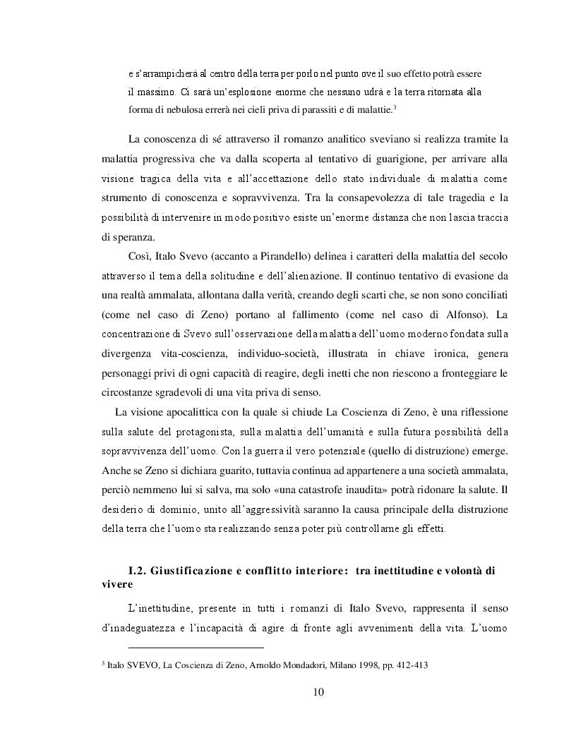 Estratto dalla tesi: Il flusso della coscienza in Italo Svevo e Marcel Proust