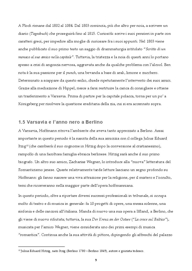 Estratto dalla tesi: Traum. Krankheit. Fantasie. Un'analisi filologica dei Nachtstücke di E.T.A. Hoffmann