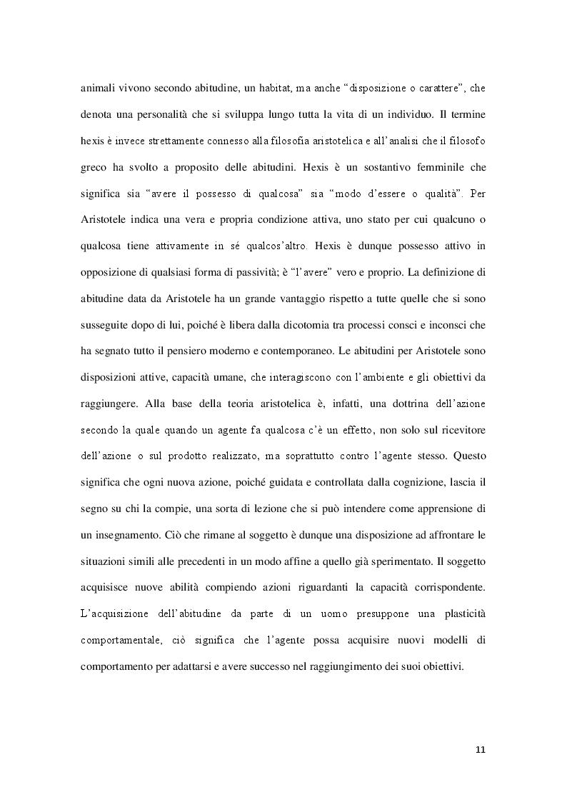 Estratto dalla tesi: Il concetto di abitudine oltre la dicotomia tra associazionismo ed organicismo
