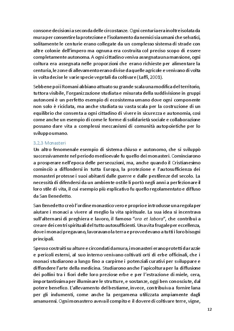 Estratto dalla tesi: Basi per un'agricoltura di autosufficienza nell'epoca moderna