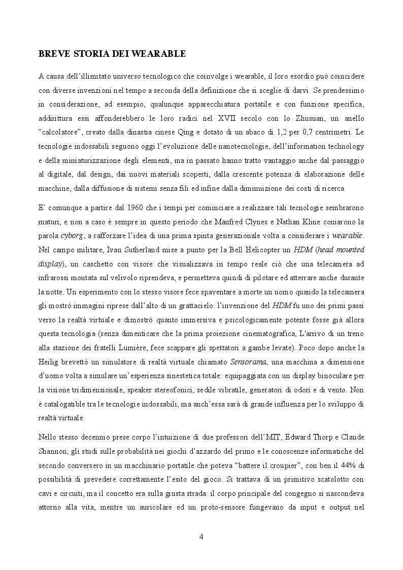 Anteprima della tesi: Effetti della wearable technology su comunicazione e società, Pagina 5