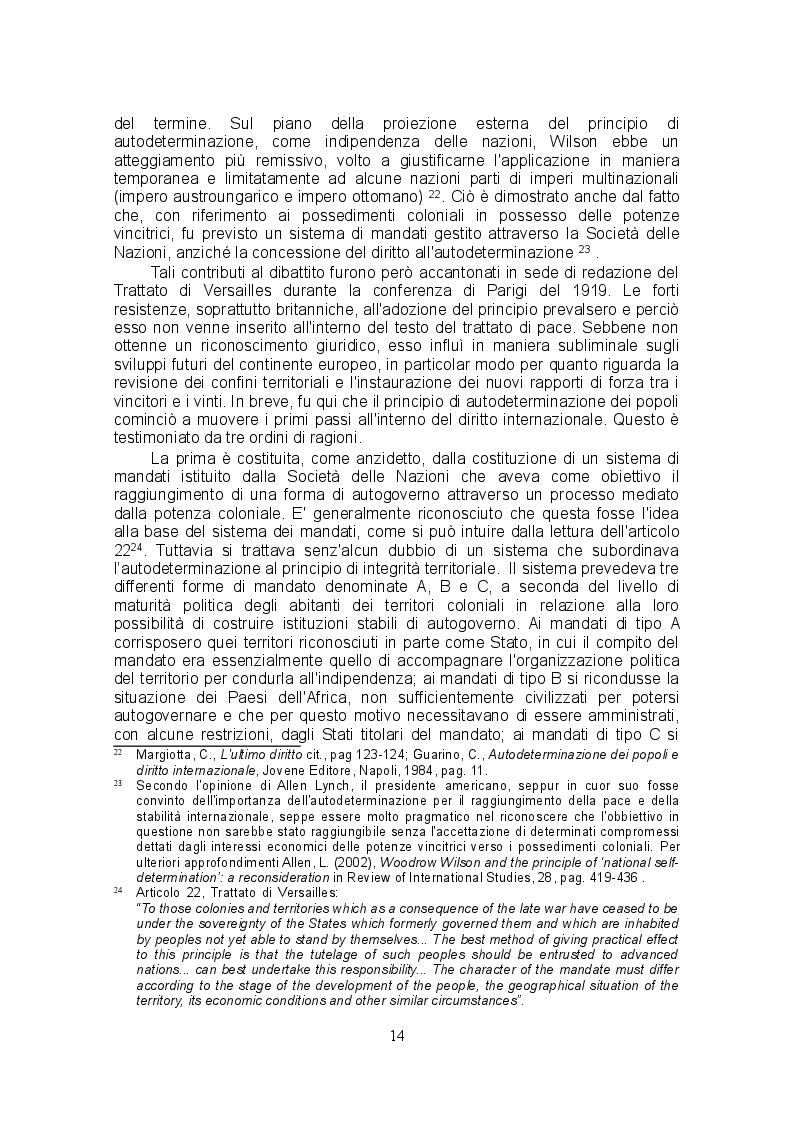 Estratto dalla tesi: Prospettive evolutive del principio di autodeterminazione dei popoli: l'utilizzo dello strumento referendario come mezzo risolutivo delle rivendicazioni secessionistiche