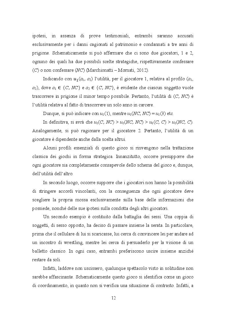 Estratto dalla tesi: La teoria dei giochi e i mercati oligopolistici: il caso Coca Cola - Pepsi