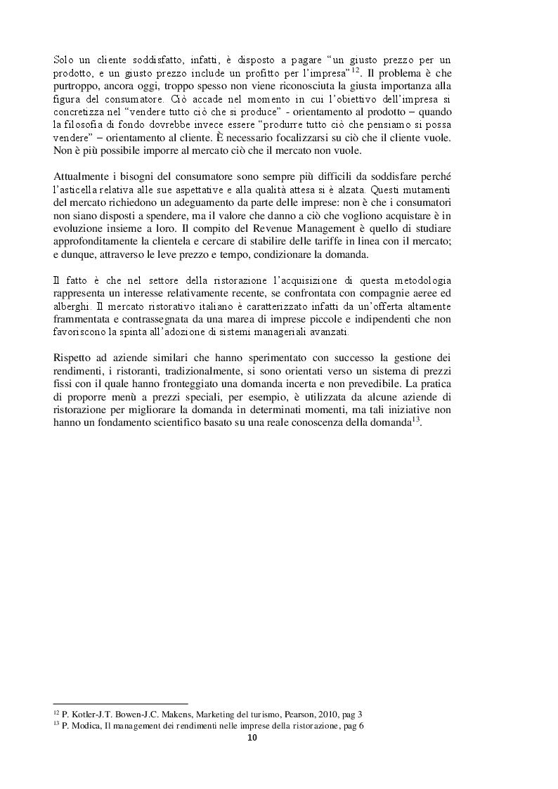 Estratto dalla tesi: L'ottimizzazione dei rendimenti nelle imprese di ristorazione + caso Sardegna