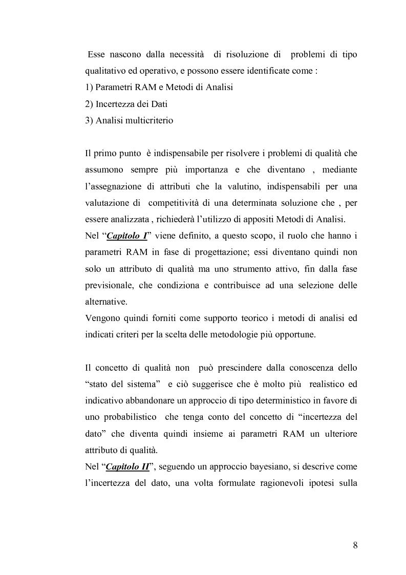 Anteprima della tesi: L'affidabilità in fase di progetto: una metodologia di analisi in regime di incertezza, Pagina 2