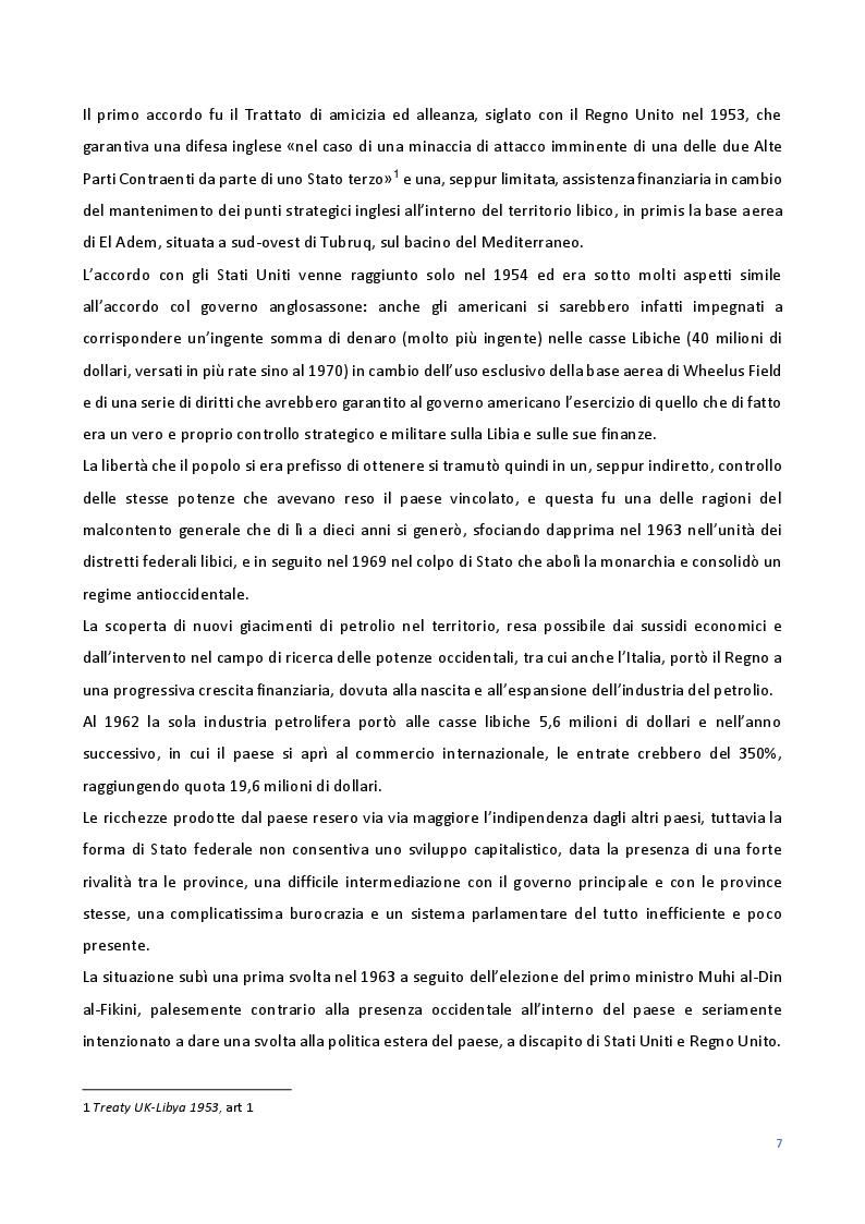 Anteprima della tesi: Le Relazioni economiche tra Italia e Libia dal secondo dopoguerra al regime di Gheddafi (1947-2012), Pagina 5