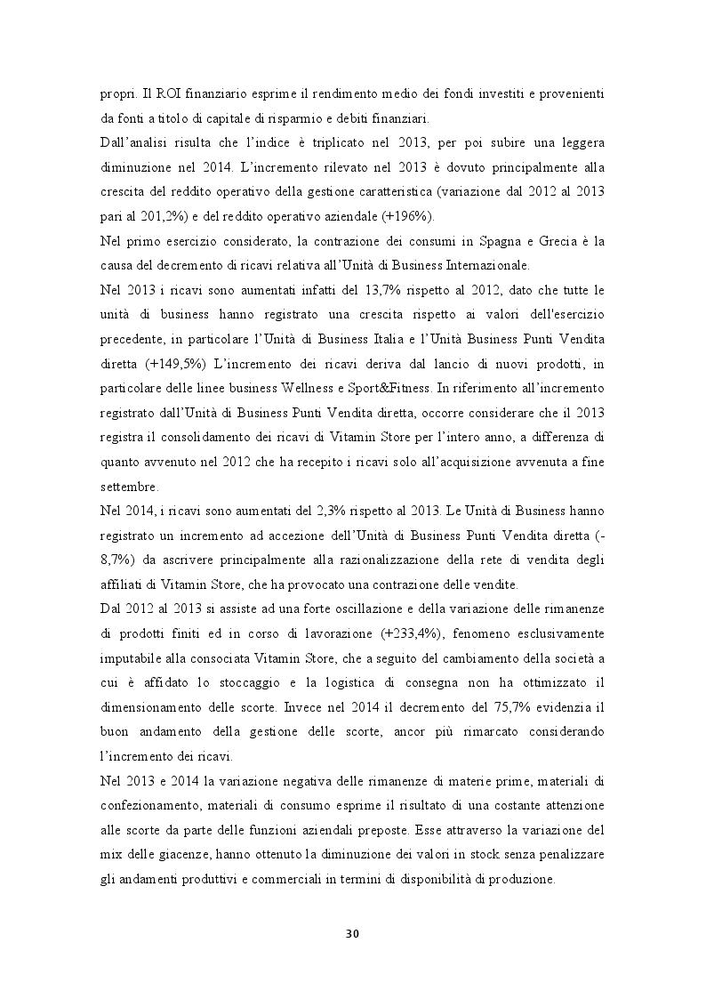 Estratto dalla tesi: L'Analisi di Bilancio: Il caso Enervit