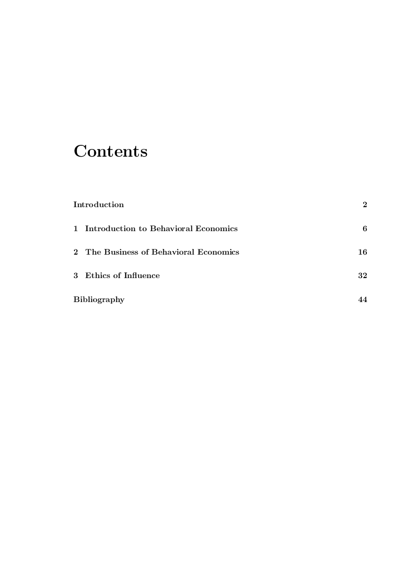 Indice della tesi: Economists' suggestions: how they influence people and social behavior, Pagina 1