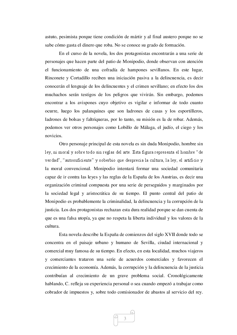 Estratto dalla tesi: El Pícaro Cervantino