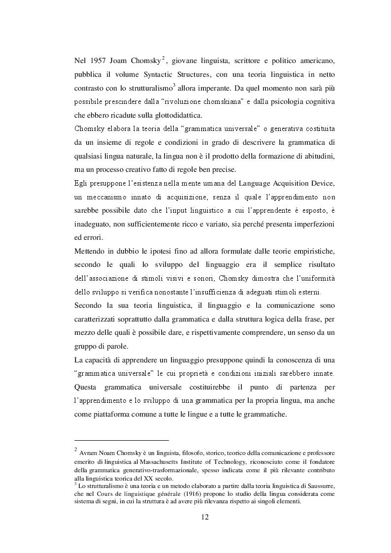 Estratto dalla tesi: Glottodrama. Un approccio comunicativo all'insegnamento della L2