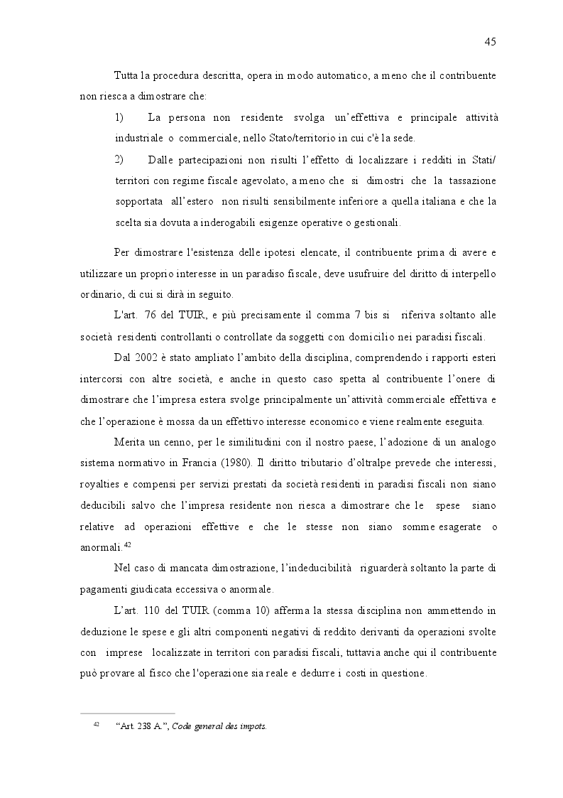 Anteprima della tesi: I paradisi fiscali: territori e normative, Pagina 5