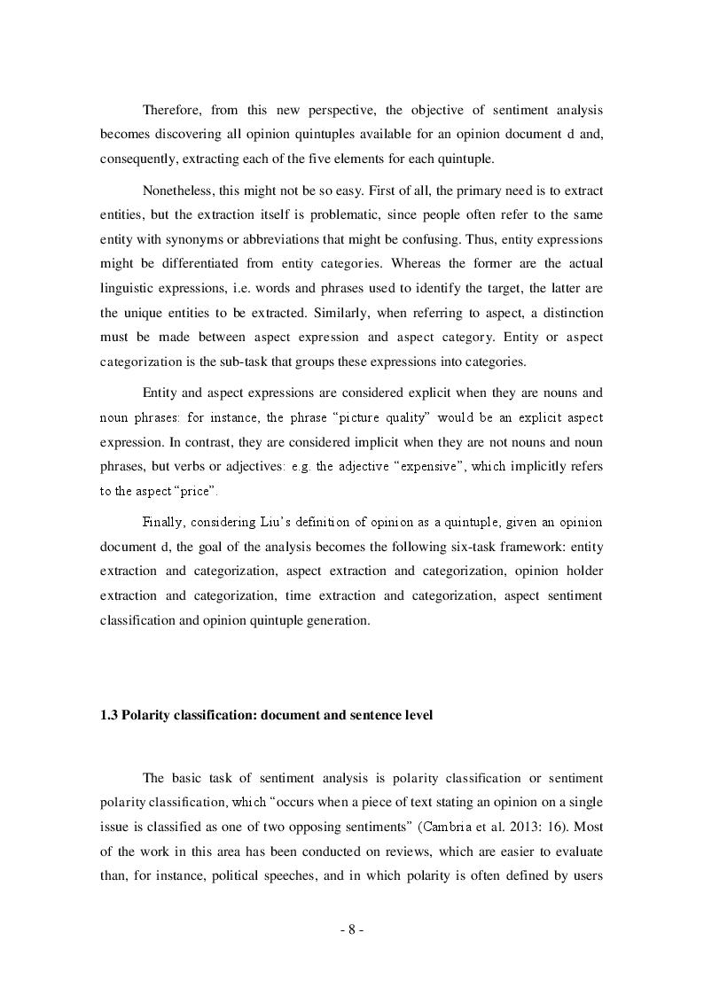 Estratto dalla tesi: Sentiment Analysis: Polarity Classification of TripAdvisor's Hotel Reviews