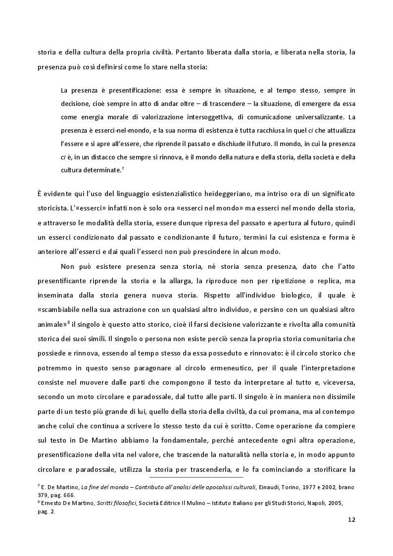 """Estratto dalla tesi: """"La fine del mondo"""" di Ernesto De Martino: il problema delle apocalissi"""
