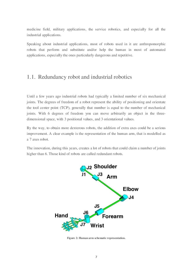 Anteprima della tesi: Study of redundant kinematics for industrial manipulators: case study of the 7 axes robot, Pagina 3