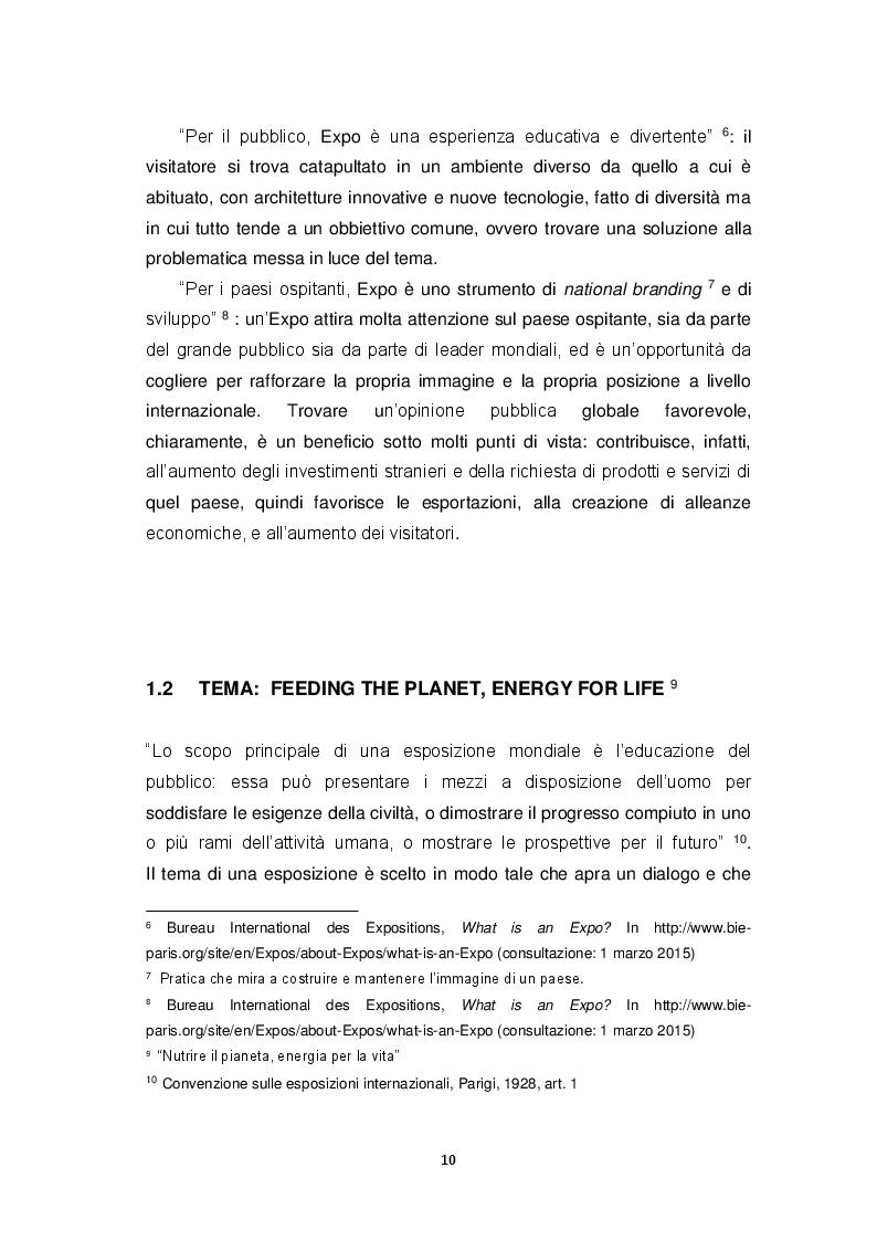 Estratto dalla tesi: Expo Milano 2015: da evento a destinazione