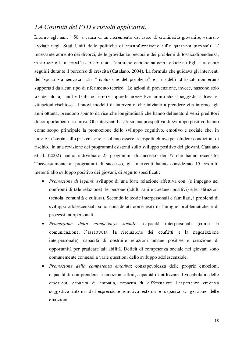 Estratto dalla tesi: Identità collettiva e benessere psicologico negli adolescenti Rom: un contributo di ricerca secondo la prospettiva del Positive Youth Developement.