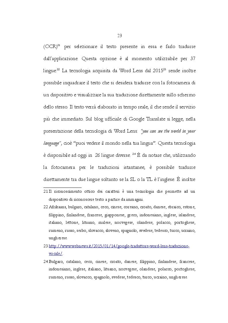 Estratto dalla tesi: Google Translate: Storia, funzionalità e esempio di traduzione