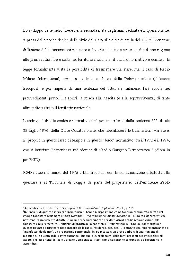 Estratto dalla tesi: Tentativi di controinformazione e di contestazione. L'azione della sinistra extraparlamentare nel Gargano degli anni '70