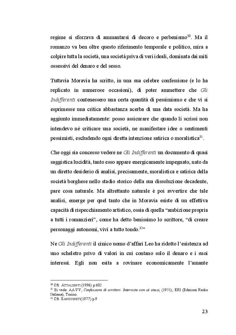 Estratto dalla tesi: Dall'indifferenza alla Noia: Alberto Moravia