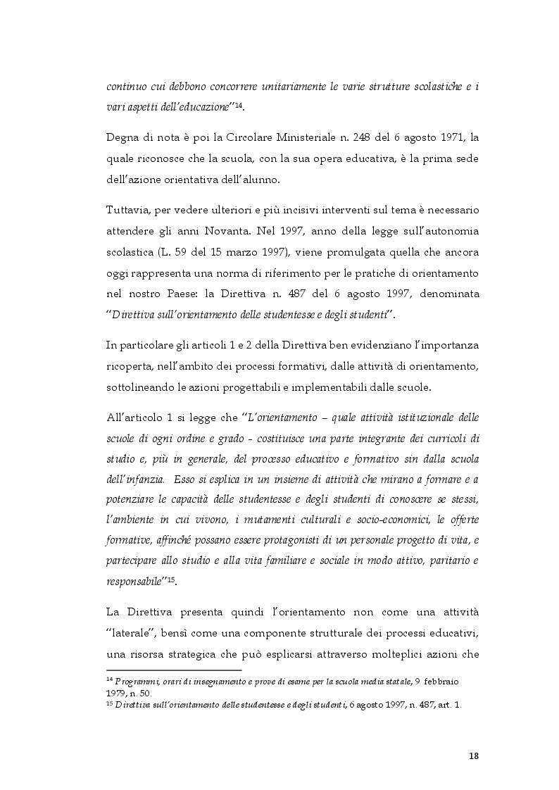 Estratto dalla tesi: L'ePortfolio come strumento per l'orientamento diacronico-formativo