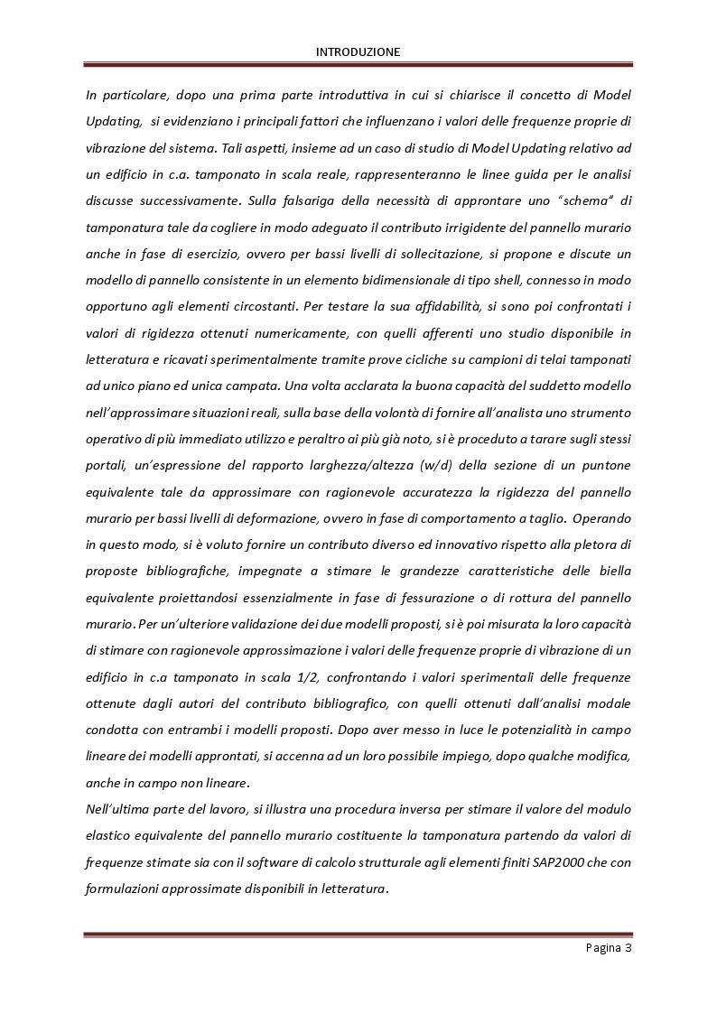 Anteprima della tesi: Influenza delle tamponature sulla risposta dinamica di edifici in cemento armato, Pagina 4