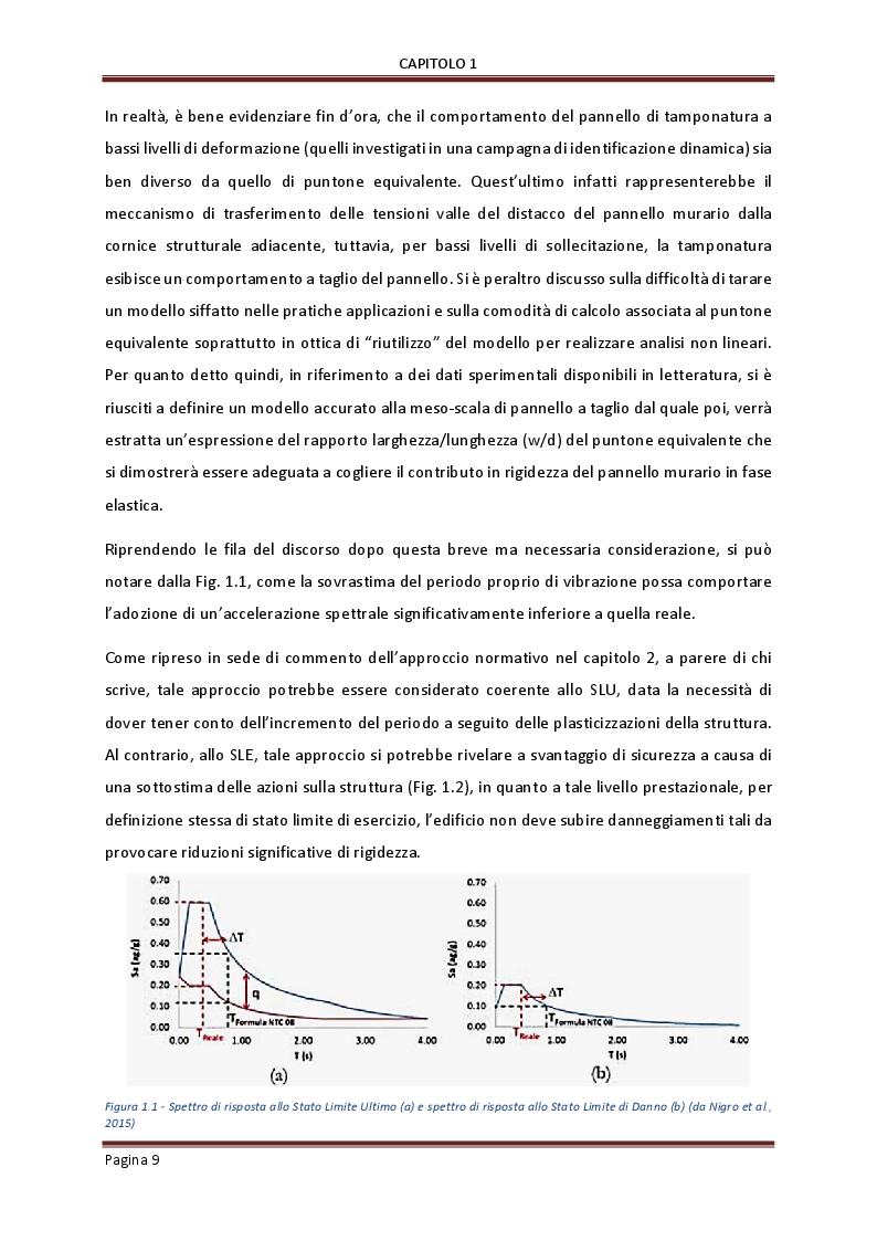 Anteprima della tesi: Influenza delle tamponature sulla risposta dinamica di edifici in cemento armato, Pagina 7