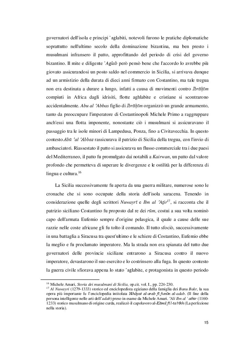 Estratto dalla tesi: I caratteri della presenza dell'Islam a Palermo nel medioevo