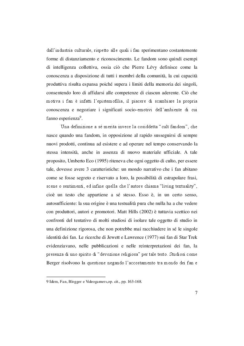 Anteprima della tesi: Fandom! Serie tv vs musica: House Of Cards vs Justin Bieber, Pagina 6