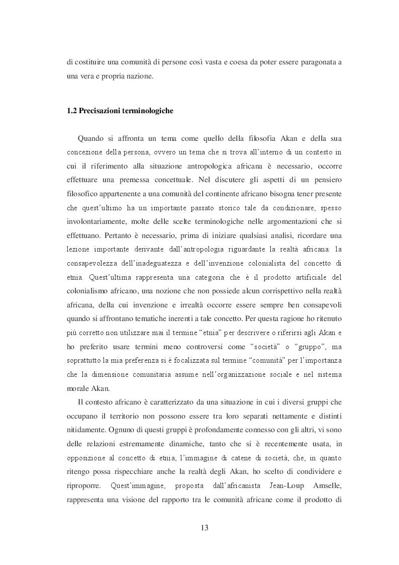 Anteprima della tesi: La filosofia Akan della persona, Pagina 6