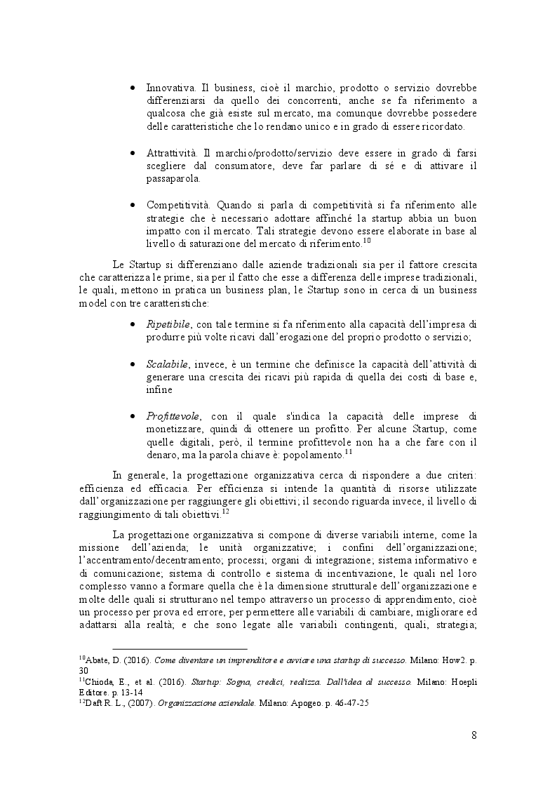 Anteprima della tesi: La progettazione organizzativa di una Startup innovativa: Il caso Friendz, Pagina 4