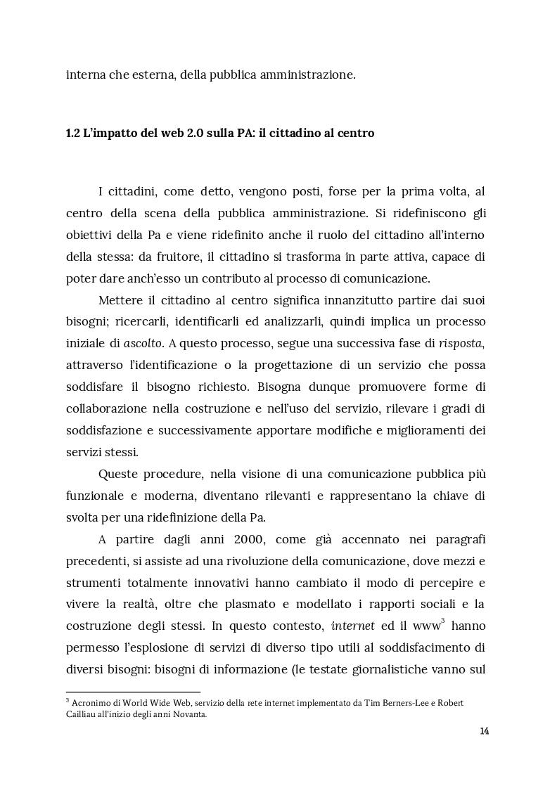 Estratto dalla tesi: Social media, Innovazione e Smart PA: la sfida digitale della comunicazione pubblica. Analisi sulla gestione dell'emergenza terremoto in Centro-Italia nel 2016