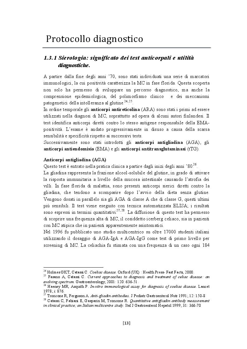 Estratto dalla tesi: Diagnosi molecolare della malattia celiaca attraverso studi di espressione genica