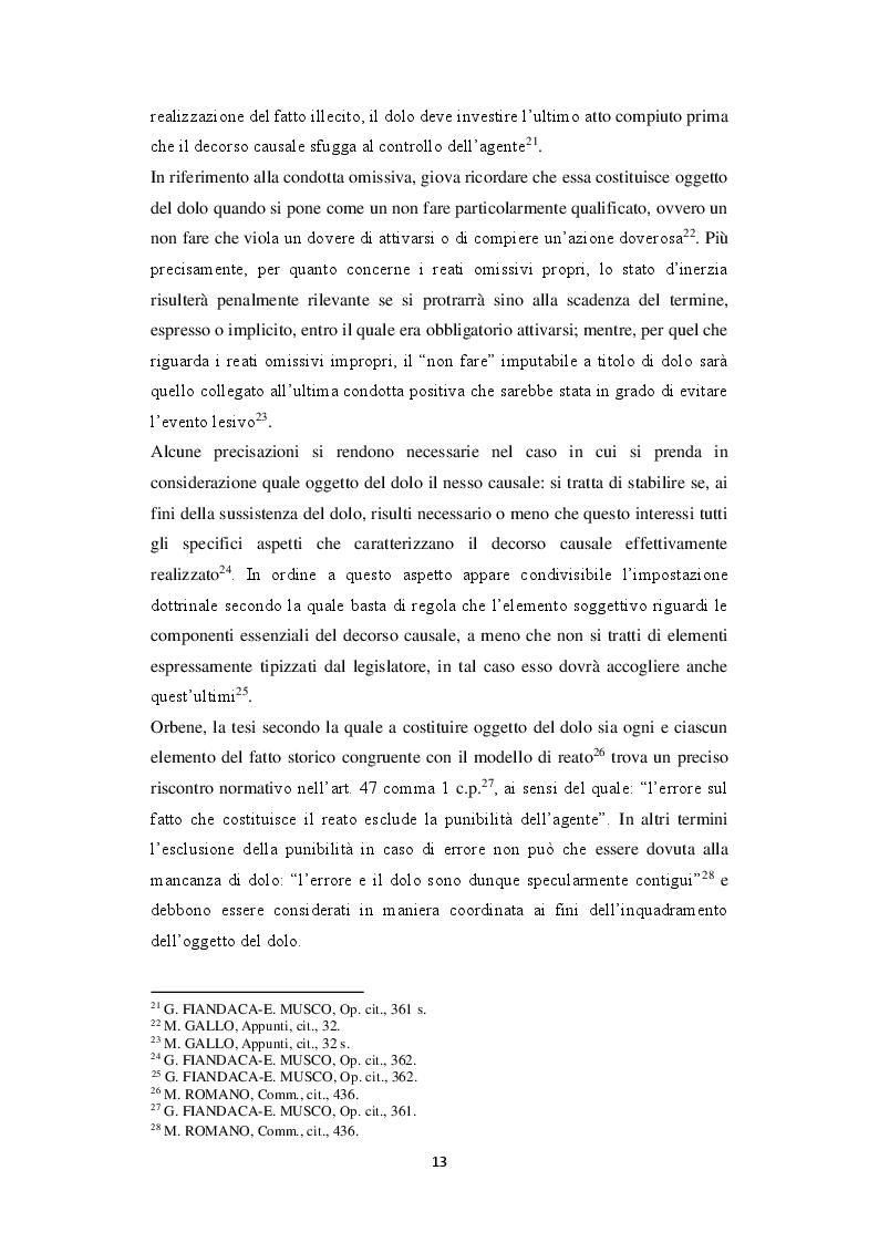 Estratto dalla tesi: Dolus in re ipsa: l'accertamento del dolo dopo le Sezioni Unite Thyssenkrupp