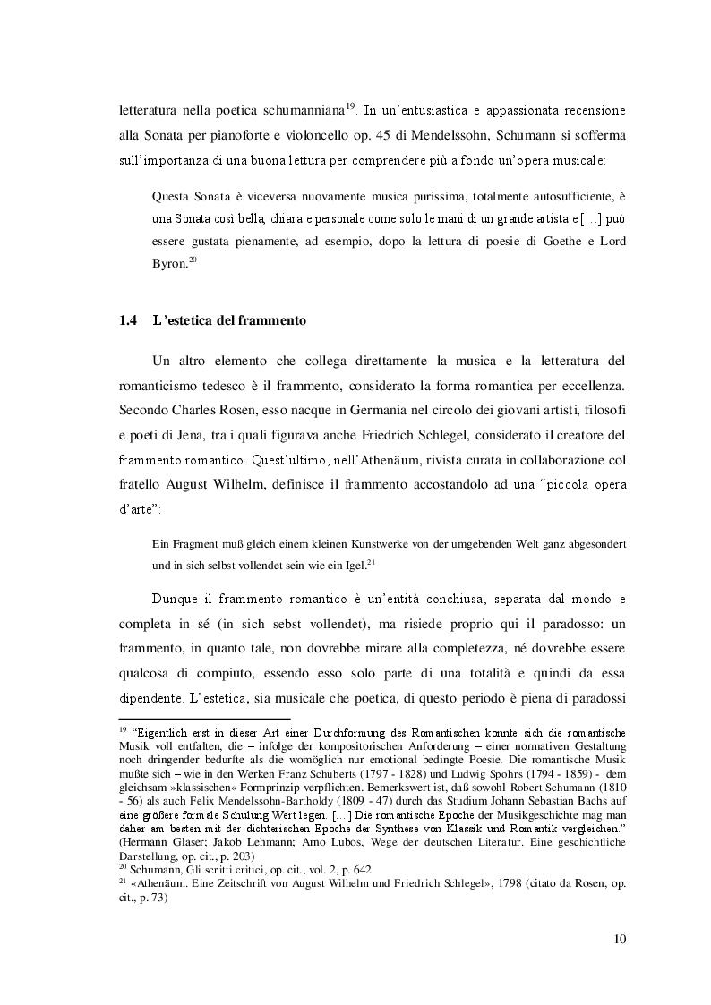 Estratto dalla tesi: Schumann e Jean Paul: il paradosso romantico
